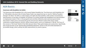 ADA Guidelines 2010: General Site and Building Elements