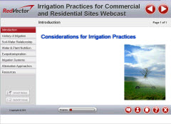 Irrigation Practices for Commercial and Residential Sites