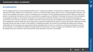 Construction Claims: Acceleration