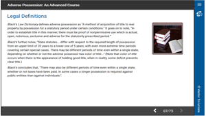 Adverse Possession: An Advanced Course