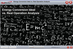 Energy Conversion Ideal vs Real Operation Analysis