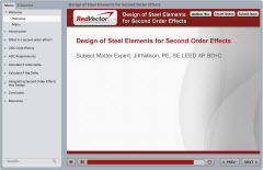 Design of Steel Elements for Second Order Effects